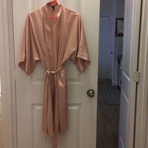 Long Satin Pink Victoria Secret Robe